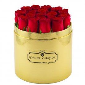 Edition Speciale Złoty Box z Czerwonymi Różami