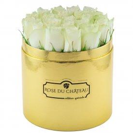 Edition Speciale Złoty Box z Białymi Różami