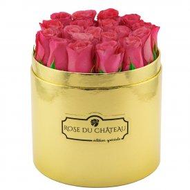 Edition Speciale Złoty Box z Różowymi Różami
