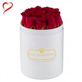 Czerwone Róże w Małym Białym Boxie