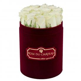 Edition Speciale Mały Flokowany Box z Białymi Różami