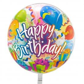 Przeźroczysty Balon Happy Birthday 56 cm