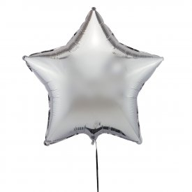 Srebrny Balon Gwiazda 46 cm