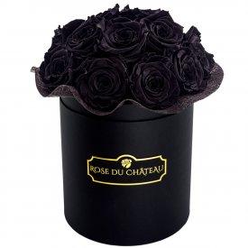 Czarne Wieczne Róże Bouquet w Czarnym Boxie