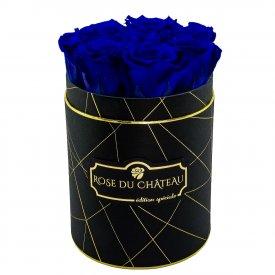 Niebieskie Wieczne Róże w Czarnym Małym Industrialnym Boxie