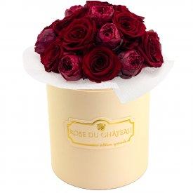 Red Romance Wieczne Piwonie Bouquet w Brzoskwiniowym Boxie