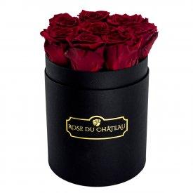 Czerwone Wieczne Róże w Czarnym Małym Boxie