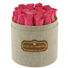 Edition Speciale Lniany Box z Różowymi Różami