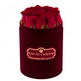Edition Speciale Mały Flokowany Box z Czerwonymi Różami