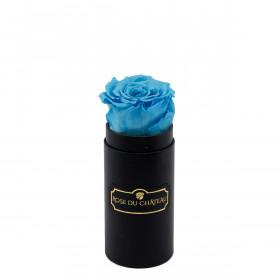 Błękitna Wieczna Róża w Czarnym Mini Boxie