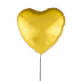 Złoty Balon Serce 46 cm
