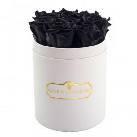Czarne Wieczne Róże w Białym Małym Boxie