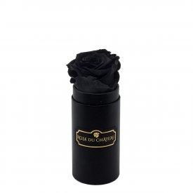 Schwarze Ewige Rose in schwarzer Mini Rosenbox