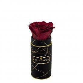 Rote Ewige Rose in Schwarzer Industrial Mini Rosenbox