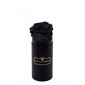 Rose Éternelle Noire Dans Une Mini Flowerbox Noire