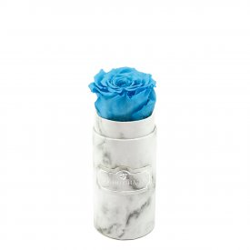 Azure Eternity Roses & White Marble Mini Flowebox