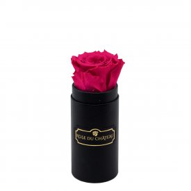 Pink Eternity Rose & Black Mini Flowerbox
