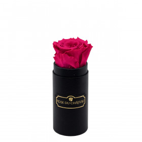 Pink Eternity Rose & Black Mini Flowerbox